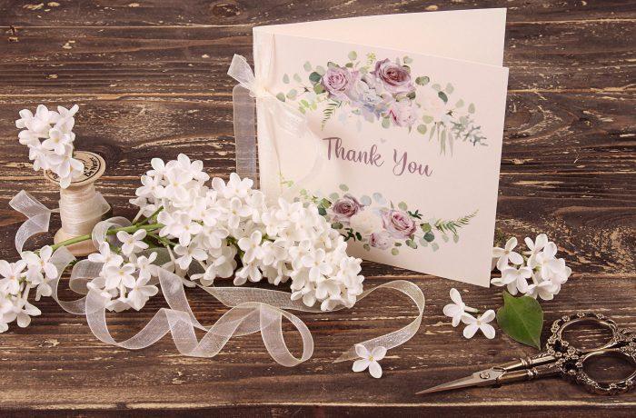Lavender & Mauve TY Card