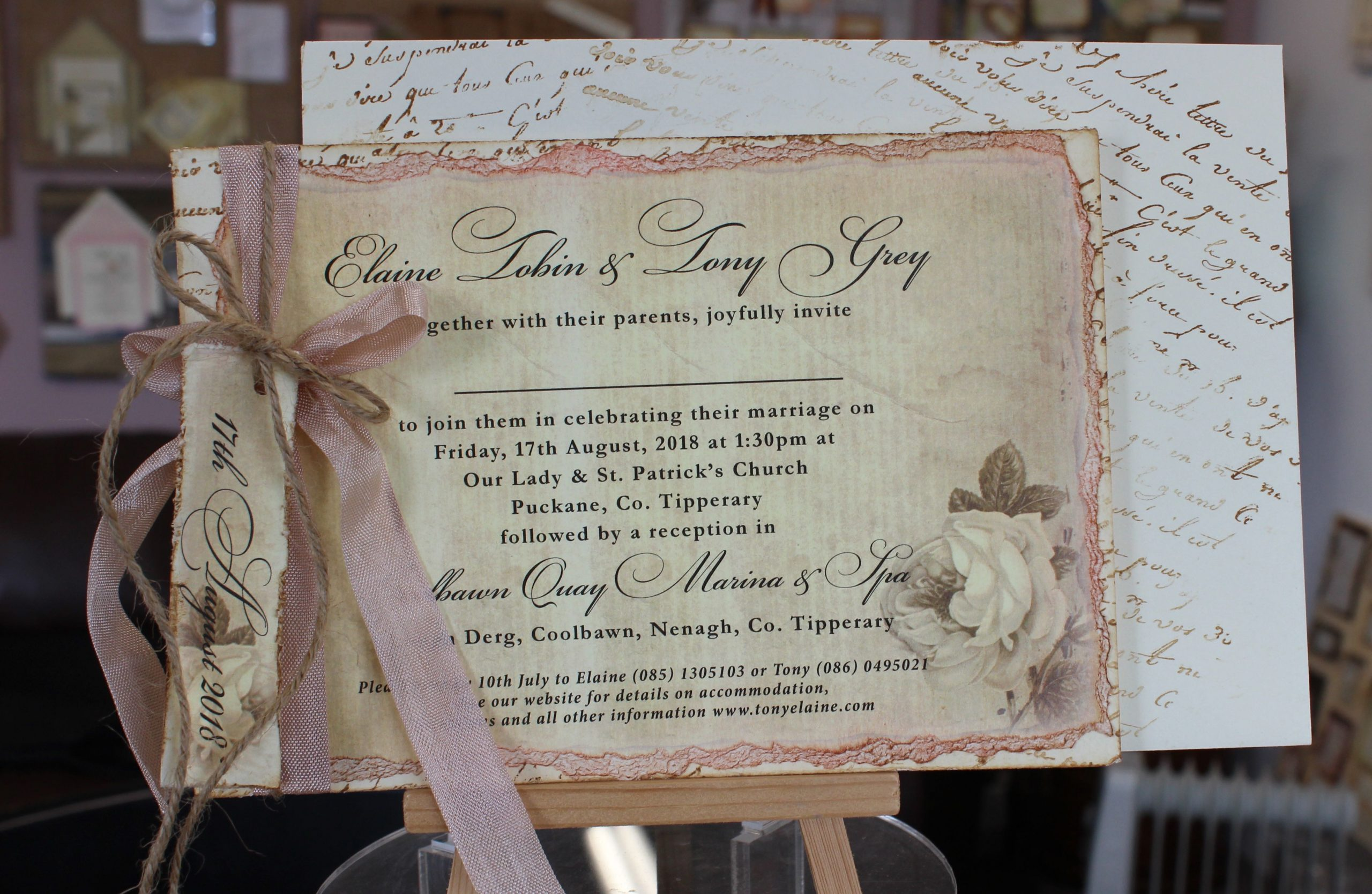 Vintage Invitation - Elaine