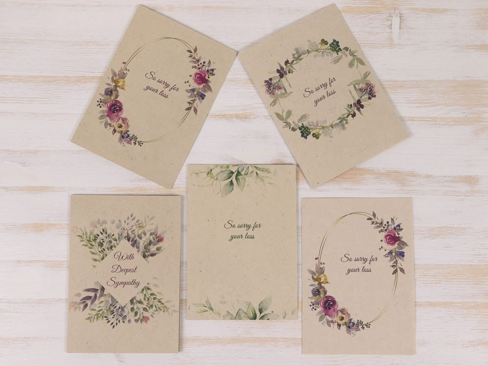5 Pack Condolence Cards