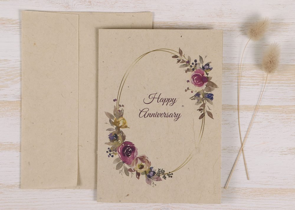 Anniversary Floral Wreath - Front