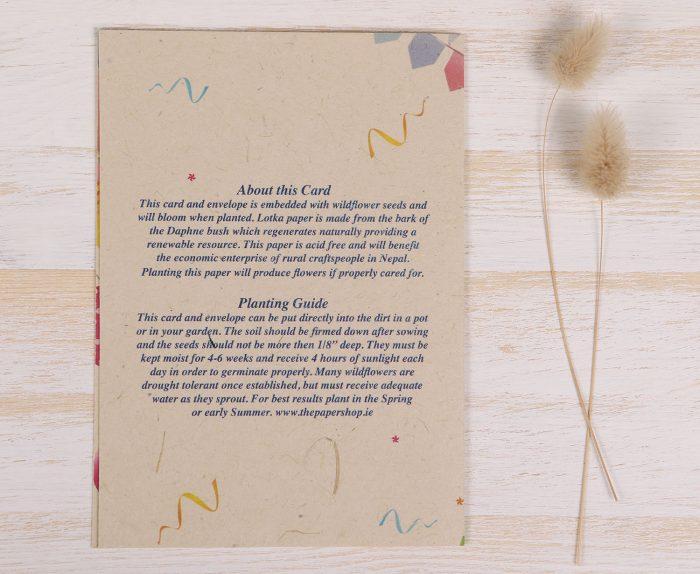 Birthday Balloon Card - Back