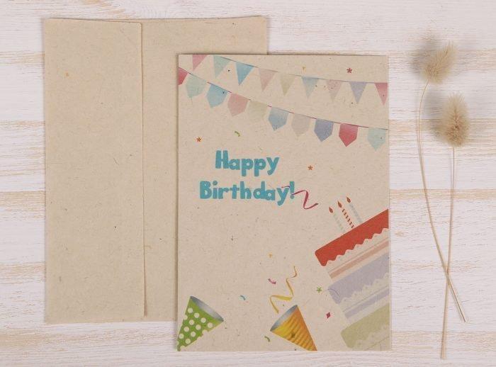 Birthday Balloon Card - Front