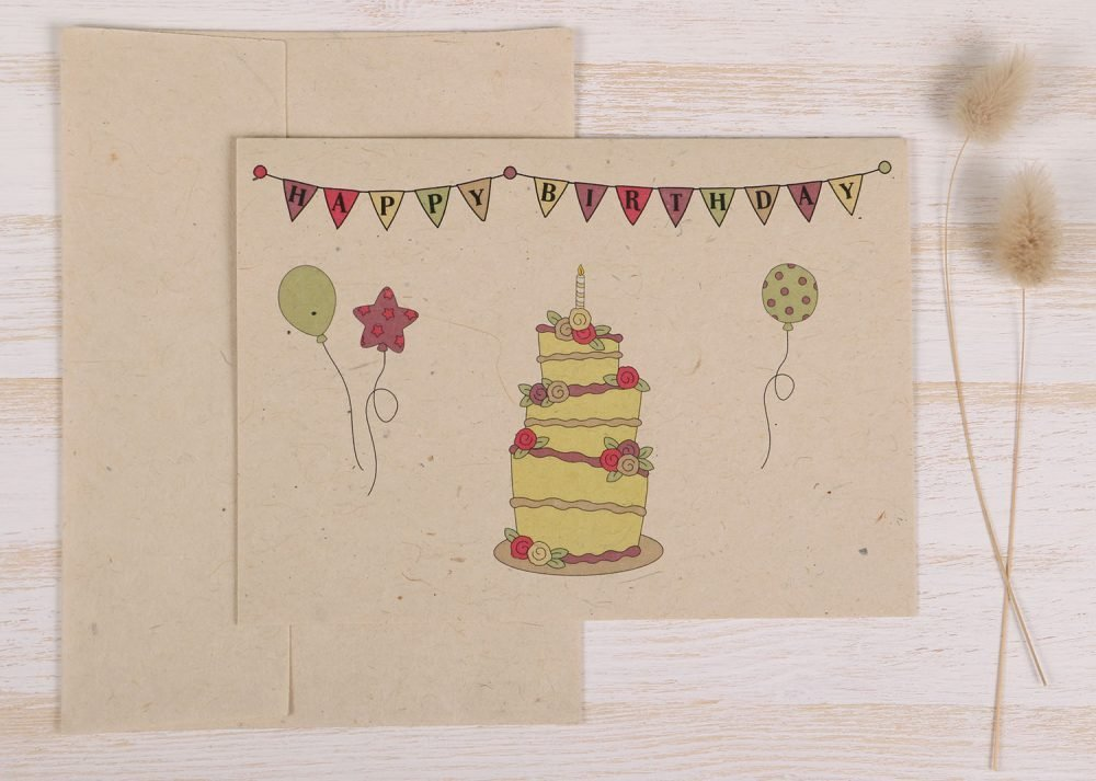 Birthday Cake Card - Front