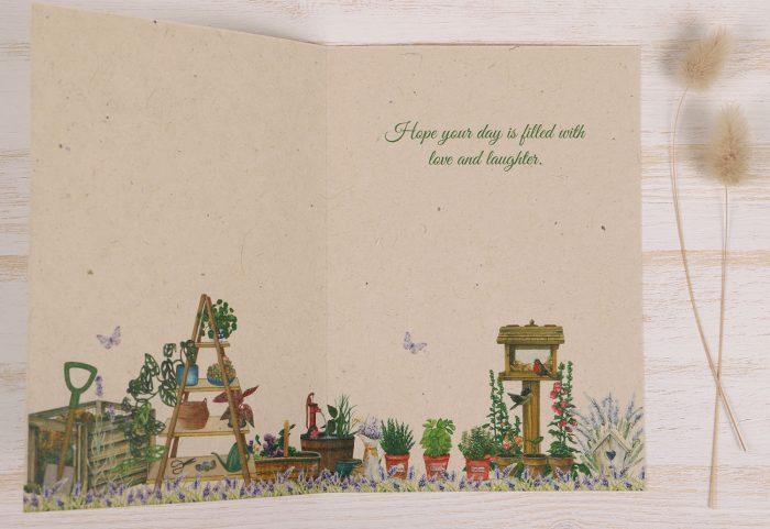 Birthday Card Gardener - Inside