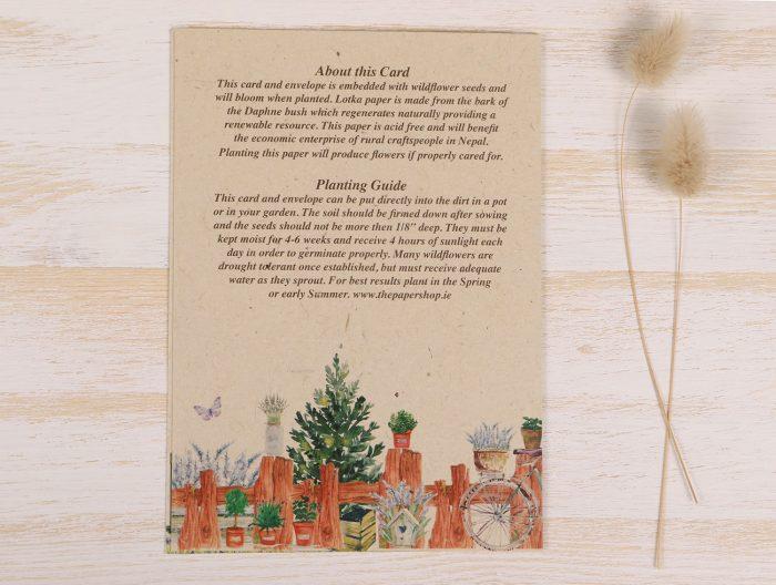 Birthday Gardener Card Back