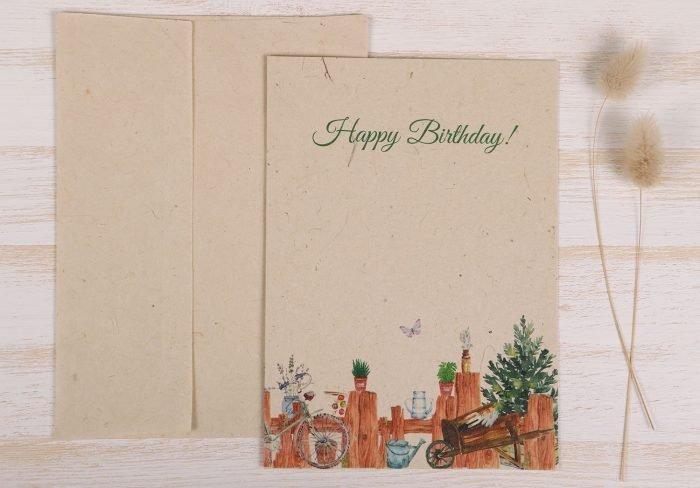 Birthday Gardener Card - Front