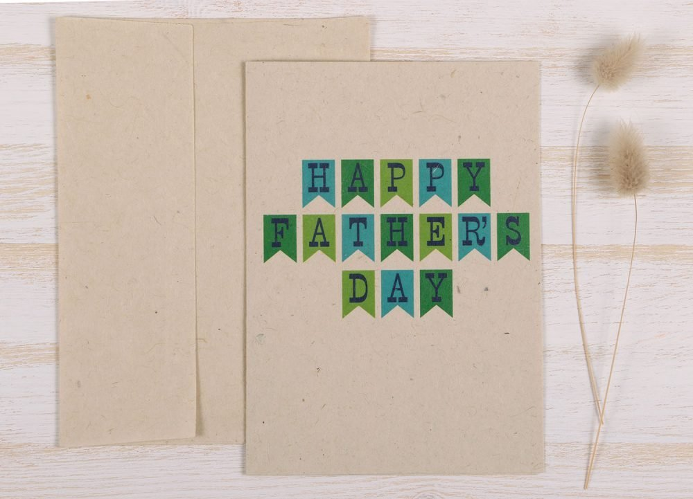 Plantable Fathers Day Card Banner - Front