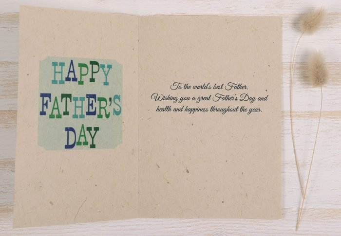 Plantable Fathers Day Card Banner - Inside