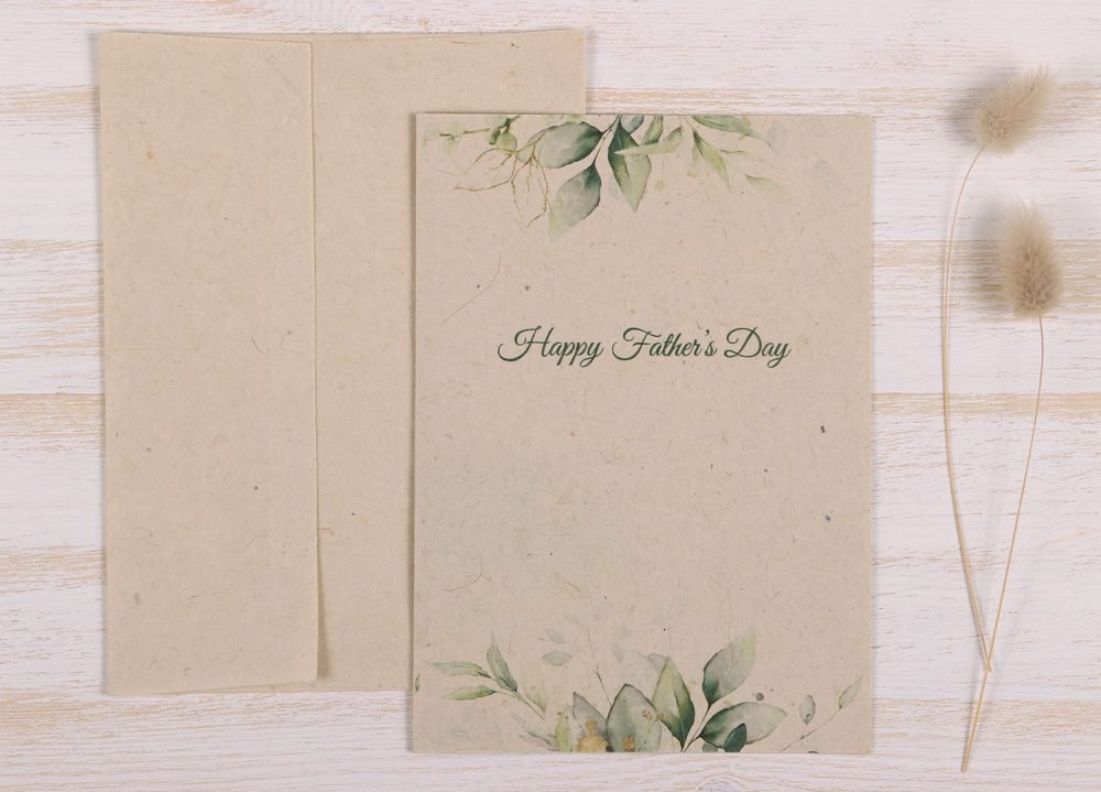 Plantable Fathers Day Card Eucalyptus - Front