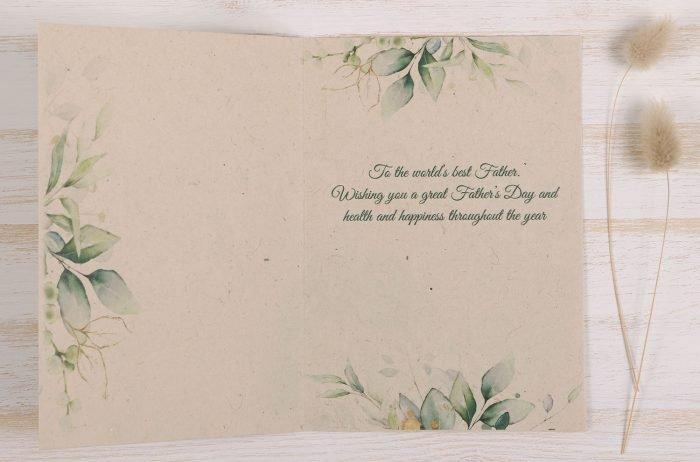 Plantable Fathers Day Card Eucalyptus - Inside