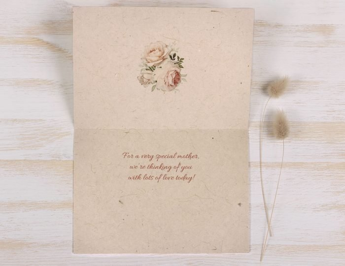Mothers Day Card - Pastel Rose - Inside