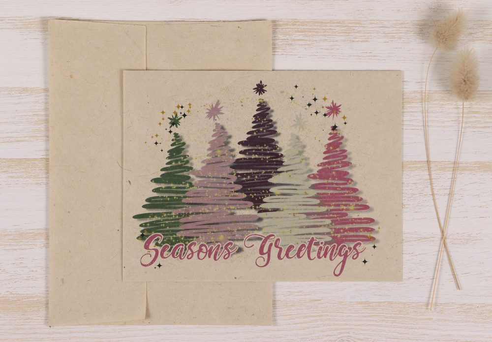 Plantable Christmas Card - Christmas Trees - Front