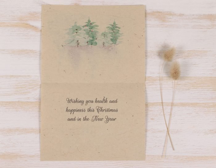 Plantable Christmas Card - Christmas Trees - Inside