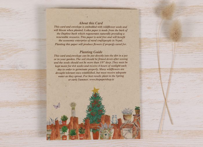 Plantable Christmas Card - Gardener - Back
