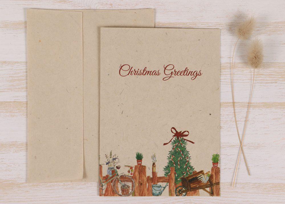 Plantable Christmas Card - Gardener - Front