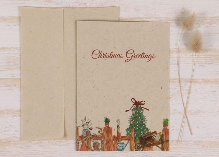 Plantable Christmas Card - Gardener - Front