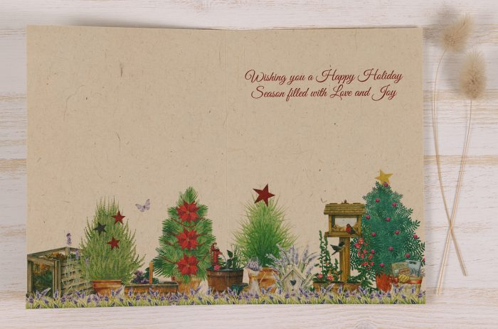 Plantable Christmas Card - Gardener - Inside