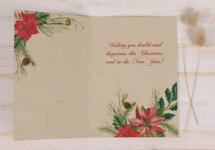 Plantable Christmas Card - Poinsettia - Inside