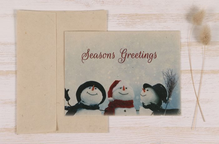 Plantable Christmas Card - Snowmen - Front