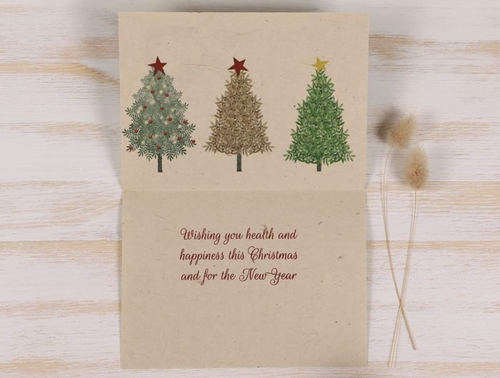 Plantable Christmas Card - Snowmen - Inside
