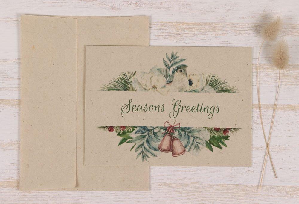 Plantable Christmas Card - Snow Bird - Front