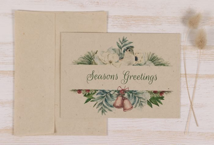 Plantable Christmas Card - Snow Bird - Front