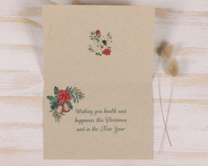 Plantable Christmas Card - Snow Bird - Inside