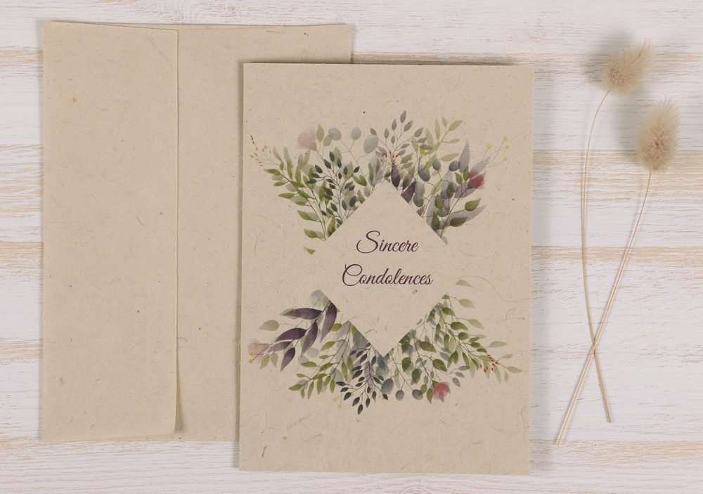 Plantable Condolence Card - Botanical Pet - Front