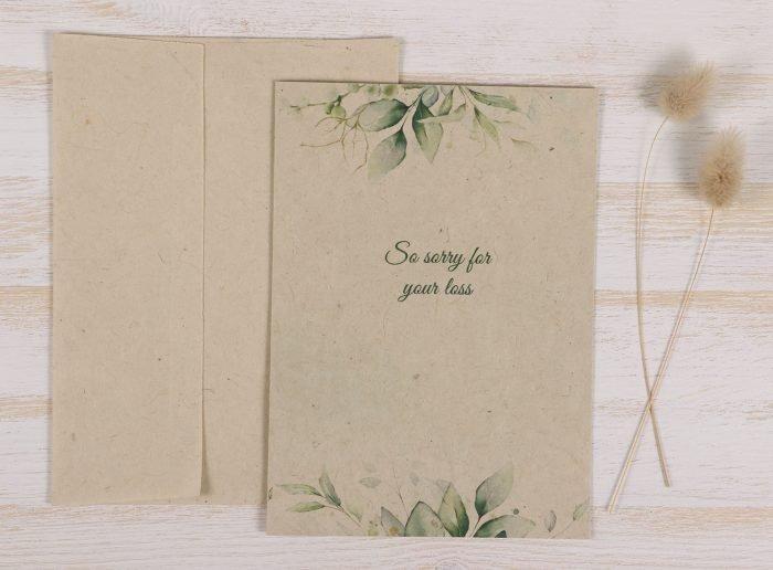Plantable Condolence Card - Eucaluptus - Front