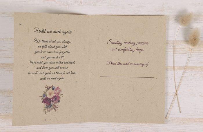 Plantable Condolence Card - Floral Wreath - Inside