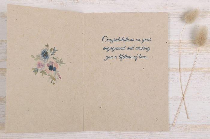 Plantable Engagement Card Blue Floral - Inside