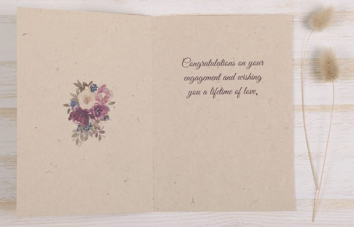 Plantable Engagement Card Floral Wreath - Inside