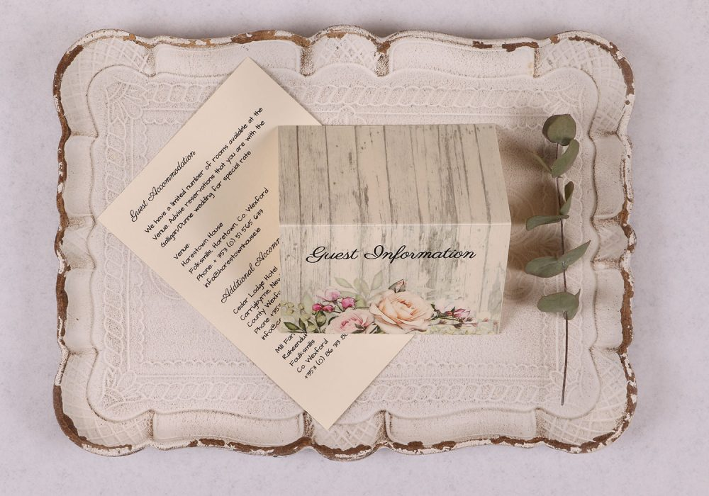 Rustic Rose Guest Information Card