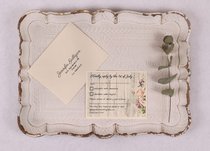 Rustic Rose RSVP Card