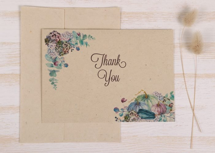 Thank You Card Hydrangas Front