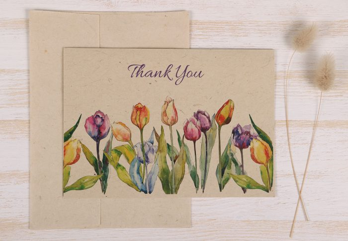 Thank You Card Tulips Front
