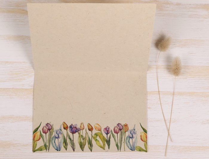 Thank You Card Tulips Inside