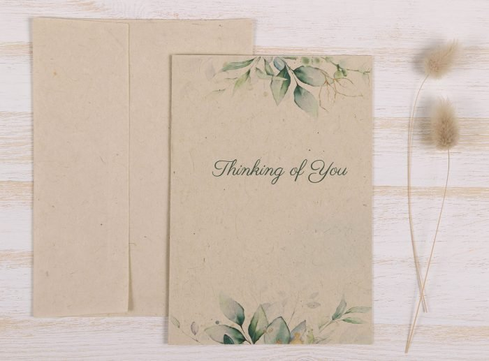 Thinking of You Card Eucalyptus - Front