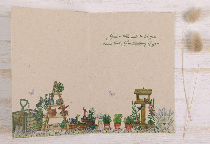 Thinking of You Card Gardener - Inside
