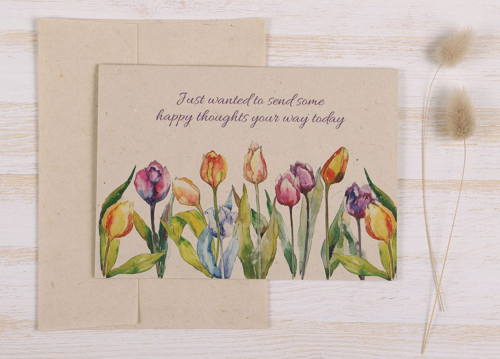 Thinking of You Card Tulips - Front