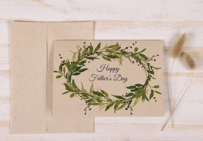 Fathers Day Card - Berry Wreath - Front