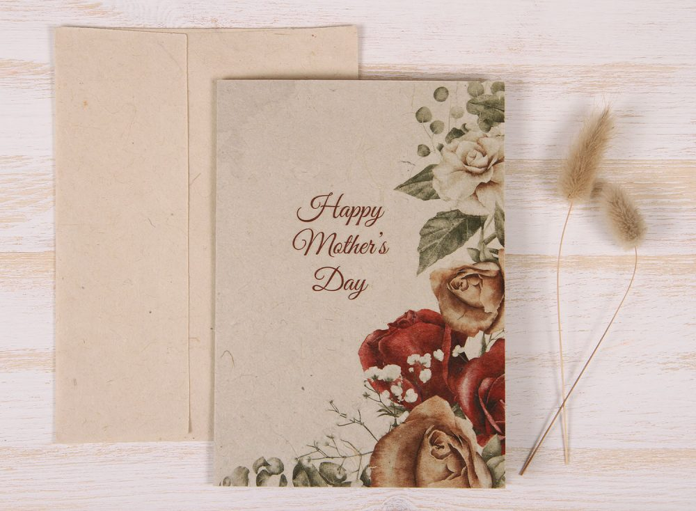 Mothers Day Card - Copper Rose - Front