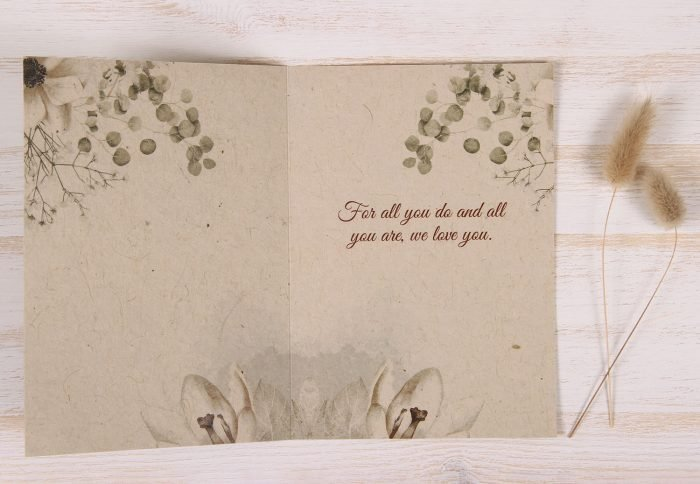 Mothers Day Card - Copper Rose - Inside