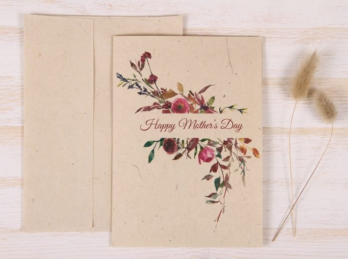 Mothers Day Card - Floral & Twigs - Front
