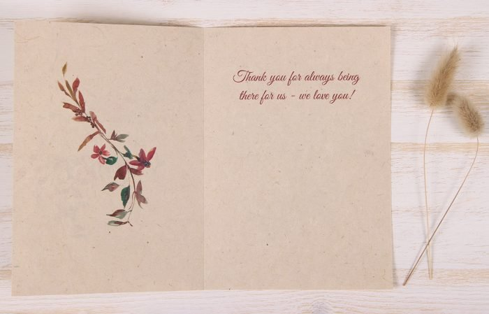 Mothers Day Card - Floral & Twigs - Inside