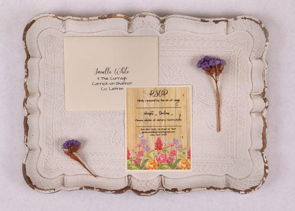 Floral Oak RSVP Card