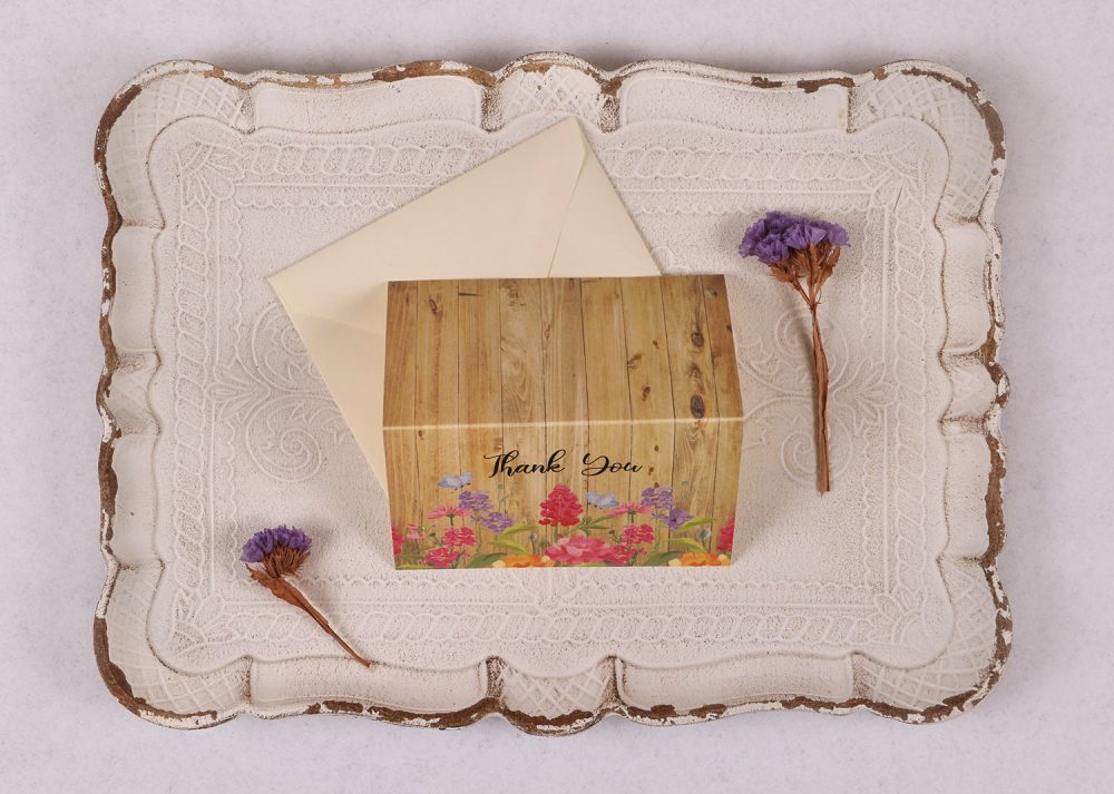 Floral Oak Thank You Card