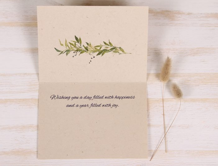 Birthday Card - Berry Wreath - Inside
