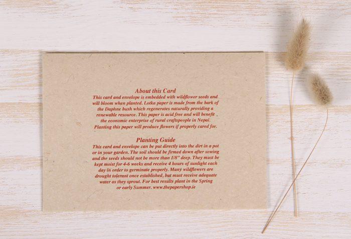 Birthday Card - Bouquet - Back