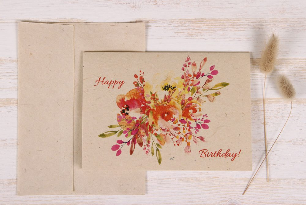 Birthday Card - Bouquet- Front